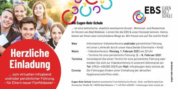 Virtueller Infoabend Eugen-Bolz-Schule