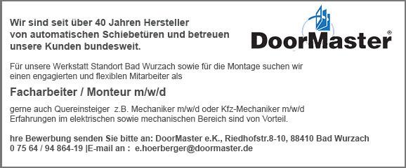 DoorMaster sucht Verstärkung