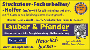 Lauber & Pfender sucht Verstärkung (m/w/d)