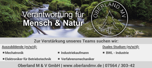 Oberland MV sucht Verstärkung