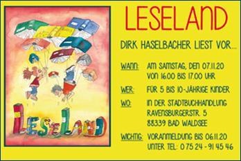 LESELAND - Dirk Haselbacher liest vor...