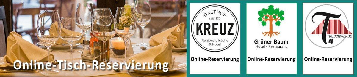 Online Tisch Reservierung in der Bildschirmzeitung!